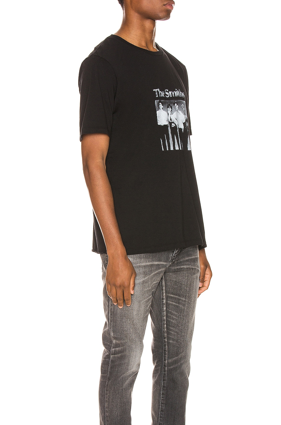 Image 2 of Saint Laurent The Smiths Tee in Black & Natural