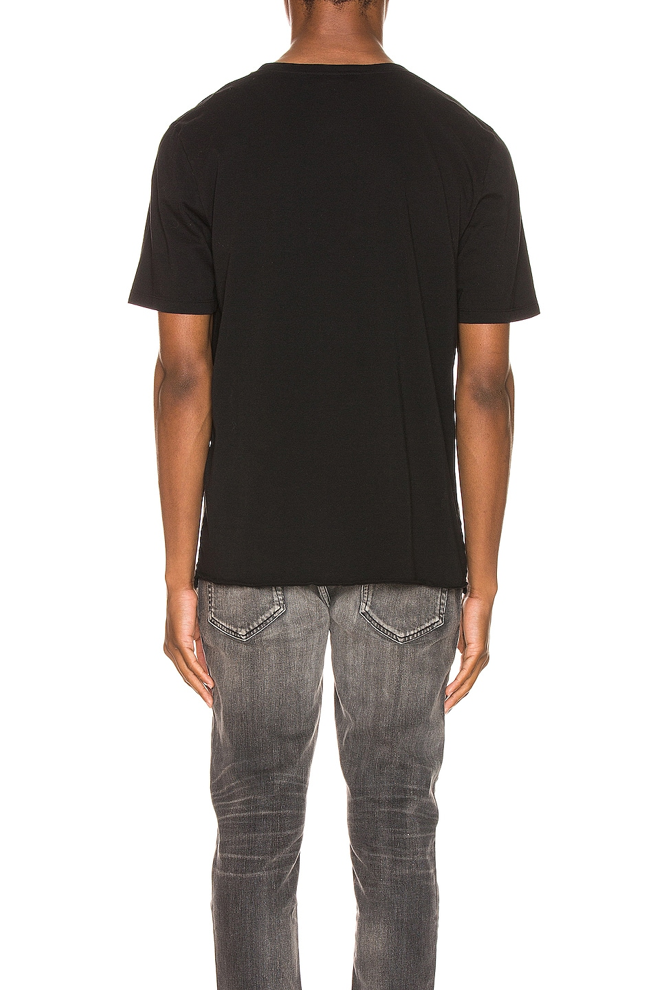 Image 3 of Saint Laurent The Smiths Tee in Black & Natural