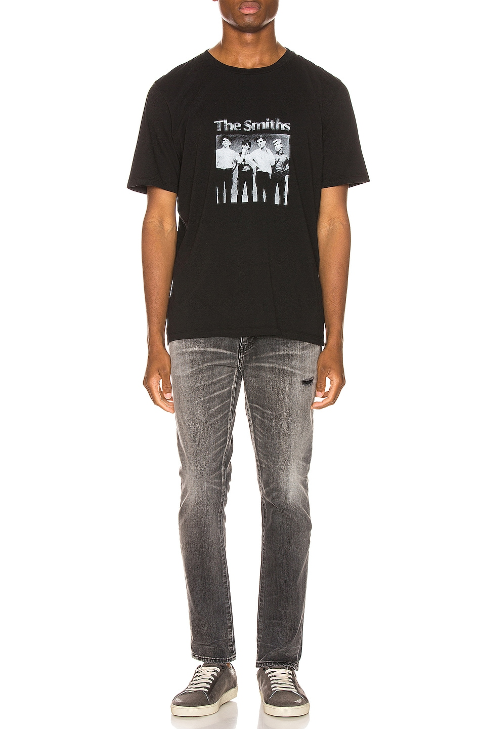 Image 4 of Saint Laurent The Smiths Tee in Black & Natural