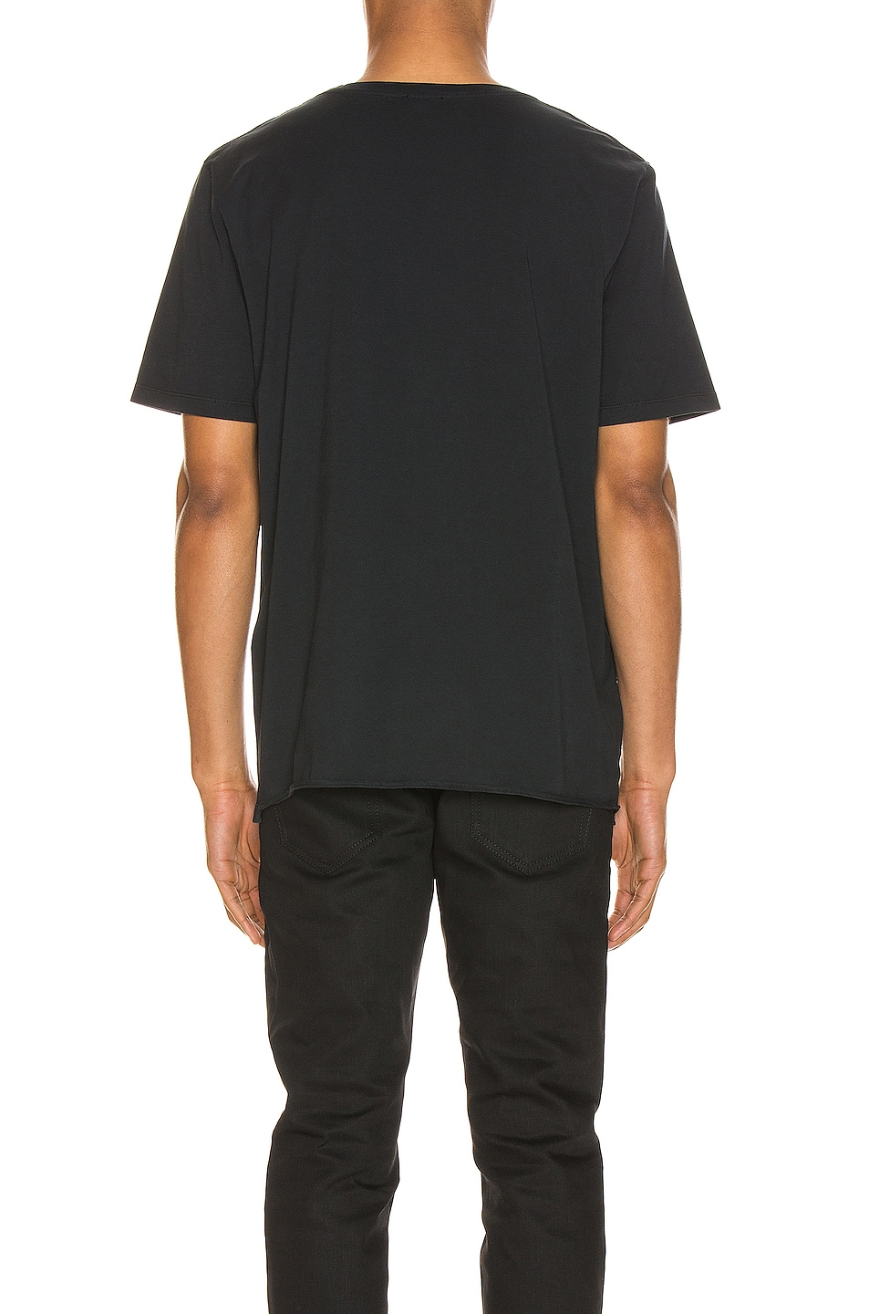 Image 3 of Saint Laurent Ribcage Print Tee in Washed Black & Natural