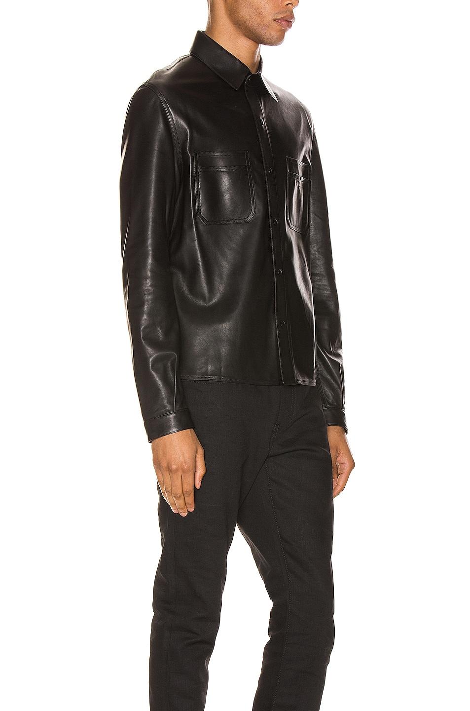Image 2 of Saint Laurent Leather Shirt in Black