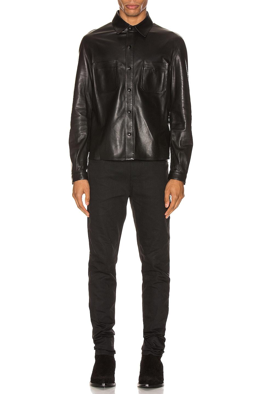Image 4 of Saint Laurent Leather Shirt in Black