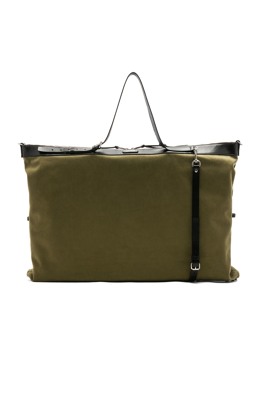 Image 4 of Saint Laurent Large Convertible Bag in Green