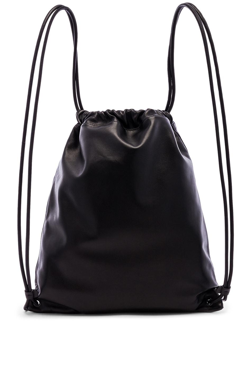 Image 3 of Saint Laurent Drawstring Backpack in Black