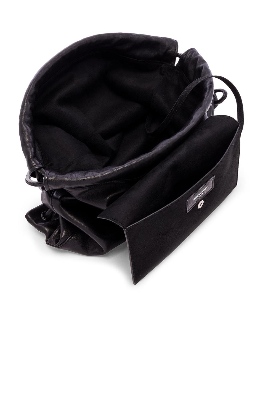 Image 5 of Saint Laurent Drawstring Backpack in Black