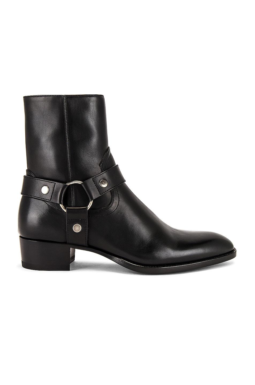 Image 1 of Saint Laurent Wyatt 40 Harness Boot in Black