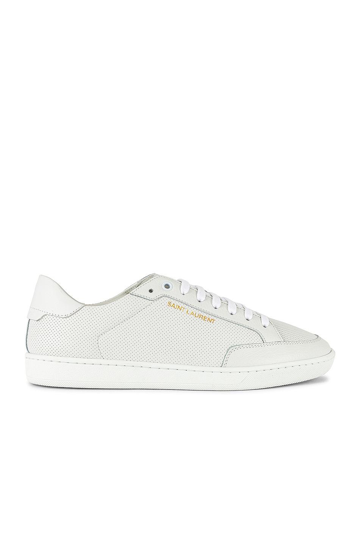 Image 1 of Saint Laurent SL /10 Low Top Sneaker in Optic White & Optic White