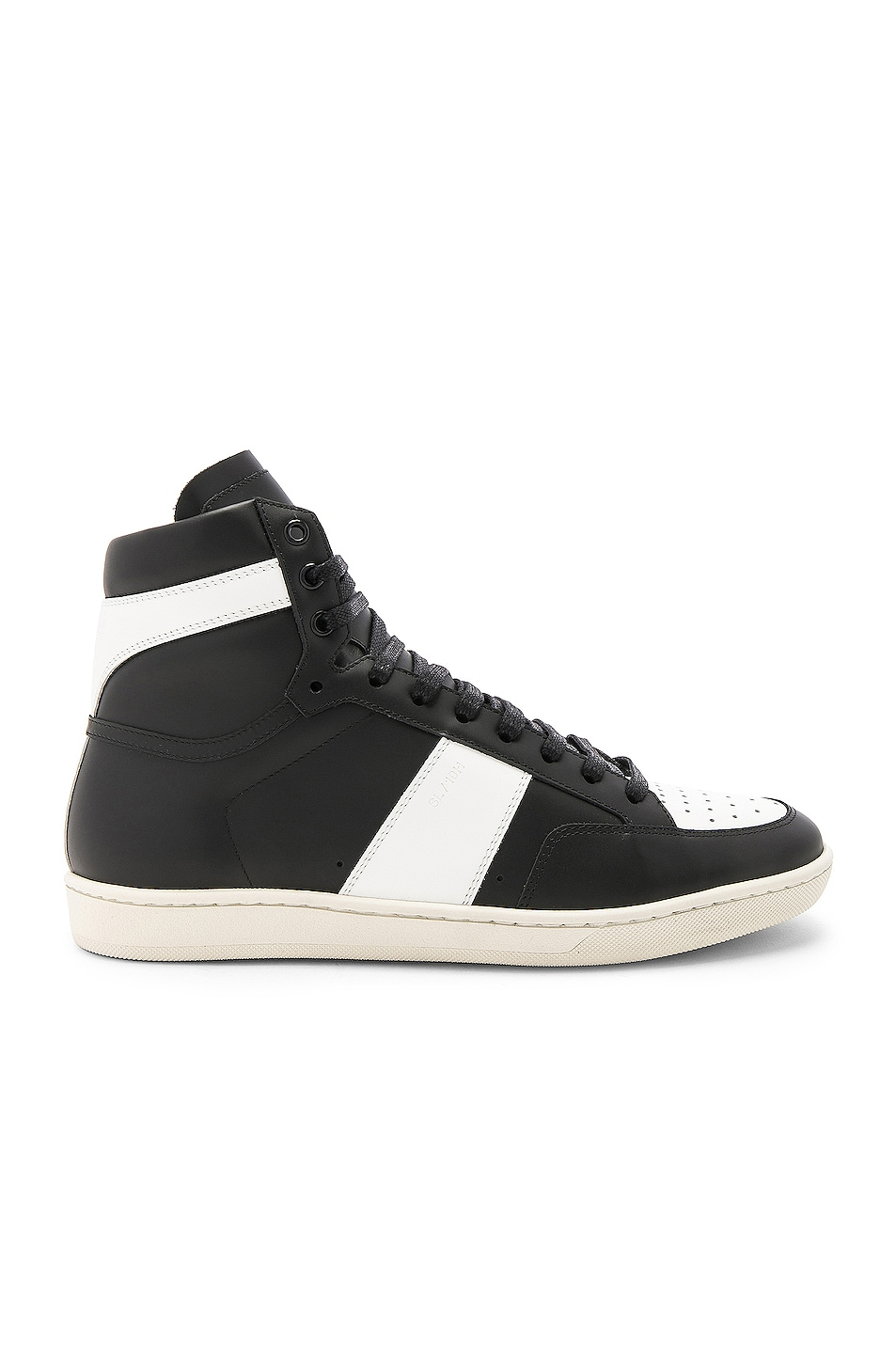 Image 1 of Saint Laurent Signature Court Classic SL/10H Leather High Top Sneakers in Black & White