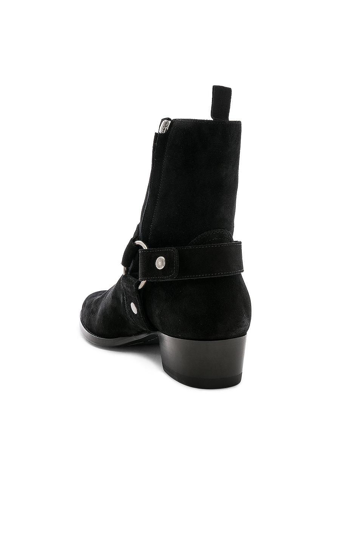Image 3 of Saint Laurent Suede Wyatt 40 Harness Boot in Black