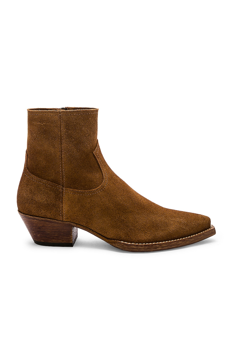 Image 1 of Saint Laurent Lukas 40 Zip Boot in Hazelnut