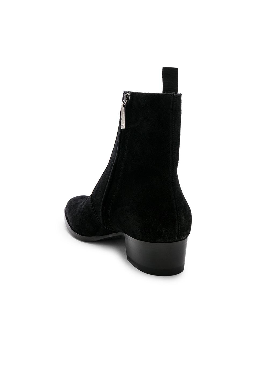Image 3 of Saint Laurent Wyatt Zipper Boots in Black