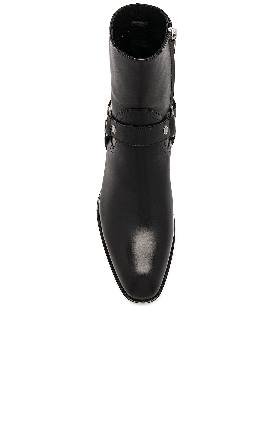17f1ec9a742 Image 4 of Saint Laurent Leather Wyatt Harness Boots in Black