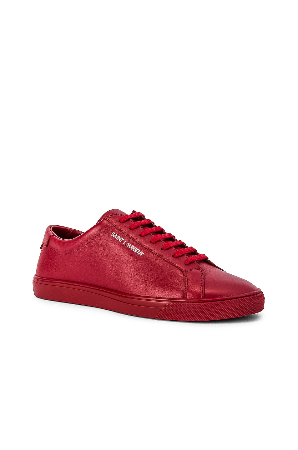Image 2 of Saint Laurent Andy Low Top Sneakers in Red