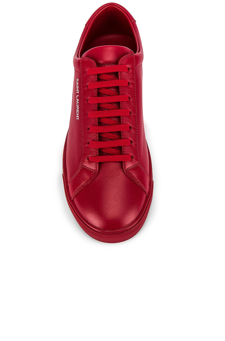 Image 4 of Saint Laurent Andy Low Top Sneakers in Red