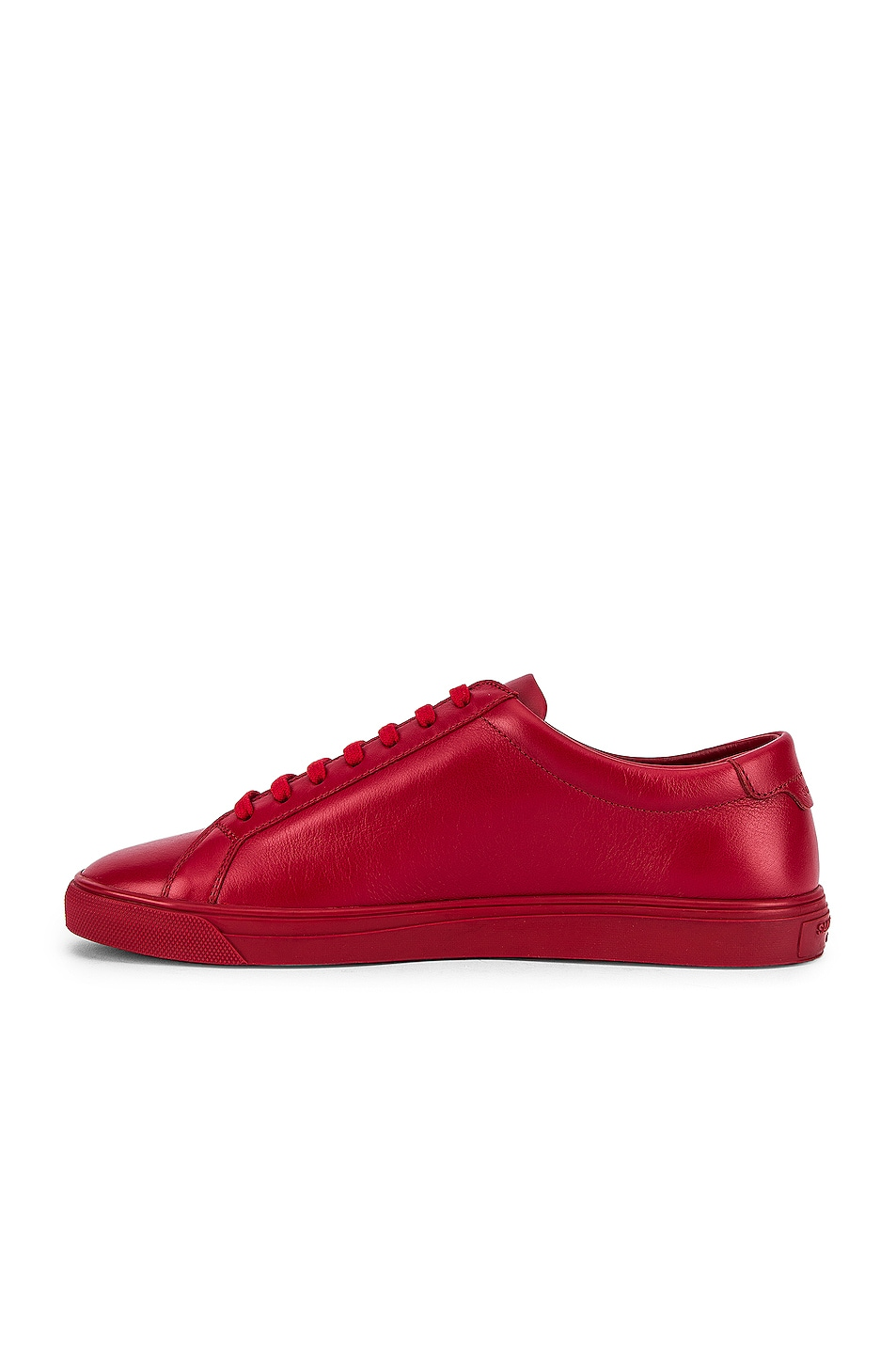 Image 5 of Saint Laurent Andy Low Top Sneakers in Red