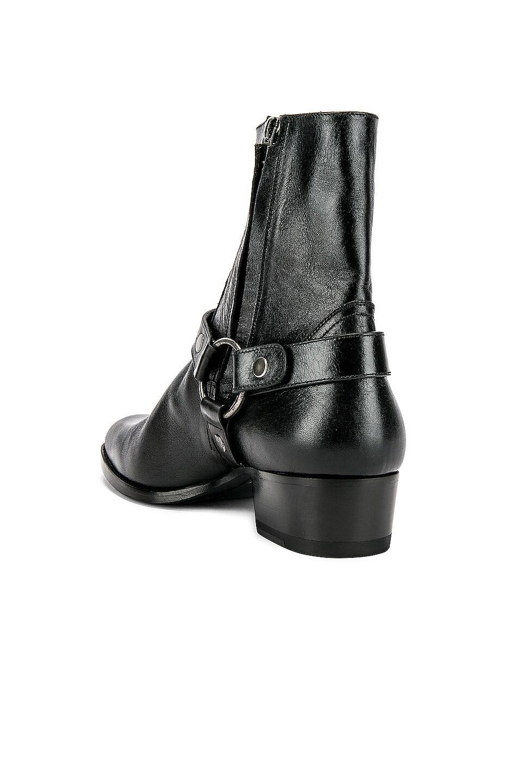 Image 3 of Saint Laurent Wyatt Harness Boots in Black