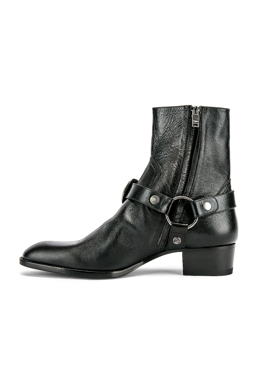 Image 5 of Saint Laurent Wyatt Harness Boots in Black