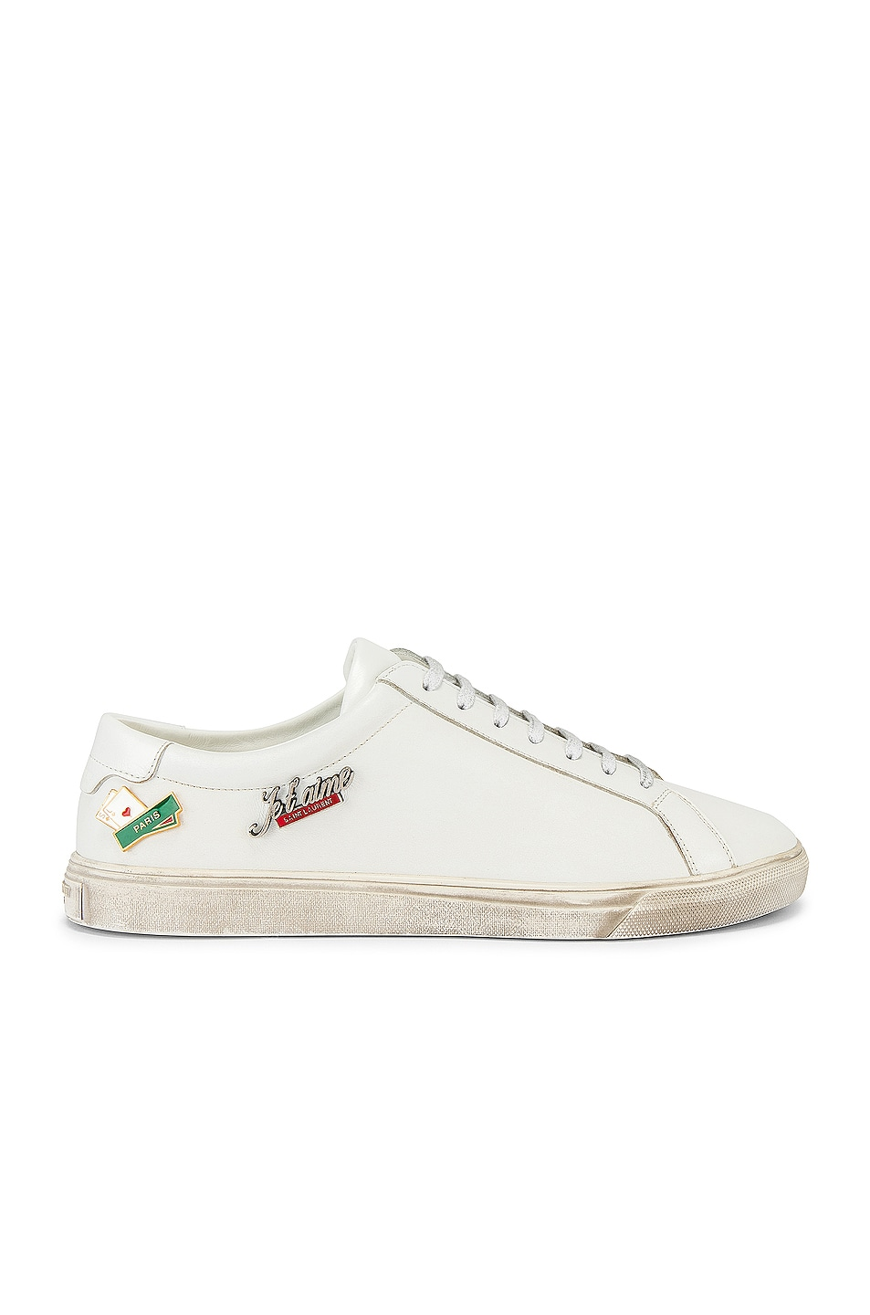 Image 1 of Saint Laurent Andy Low Tops in Optical White