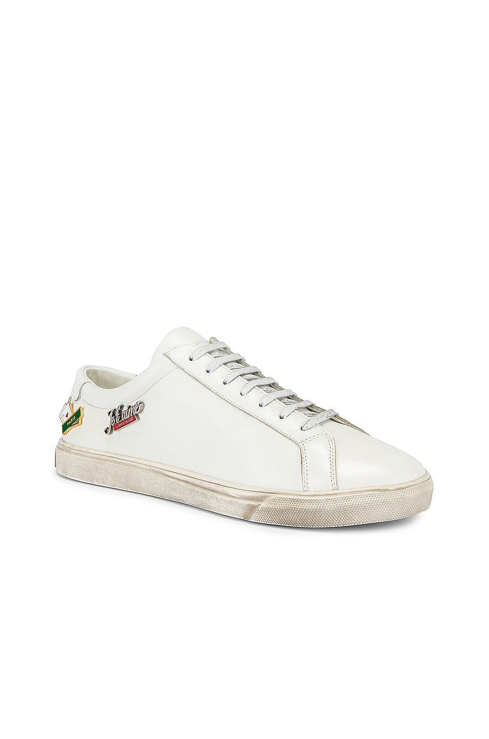 Image 2 of Saint Laurent Andy Low Tops in Optical White