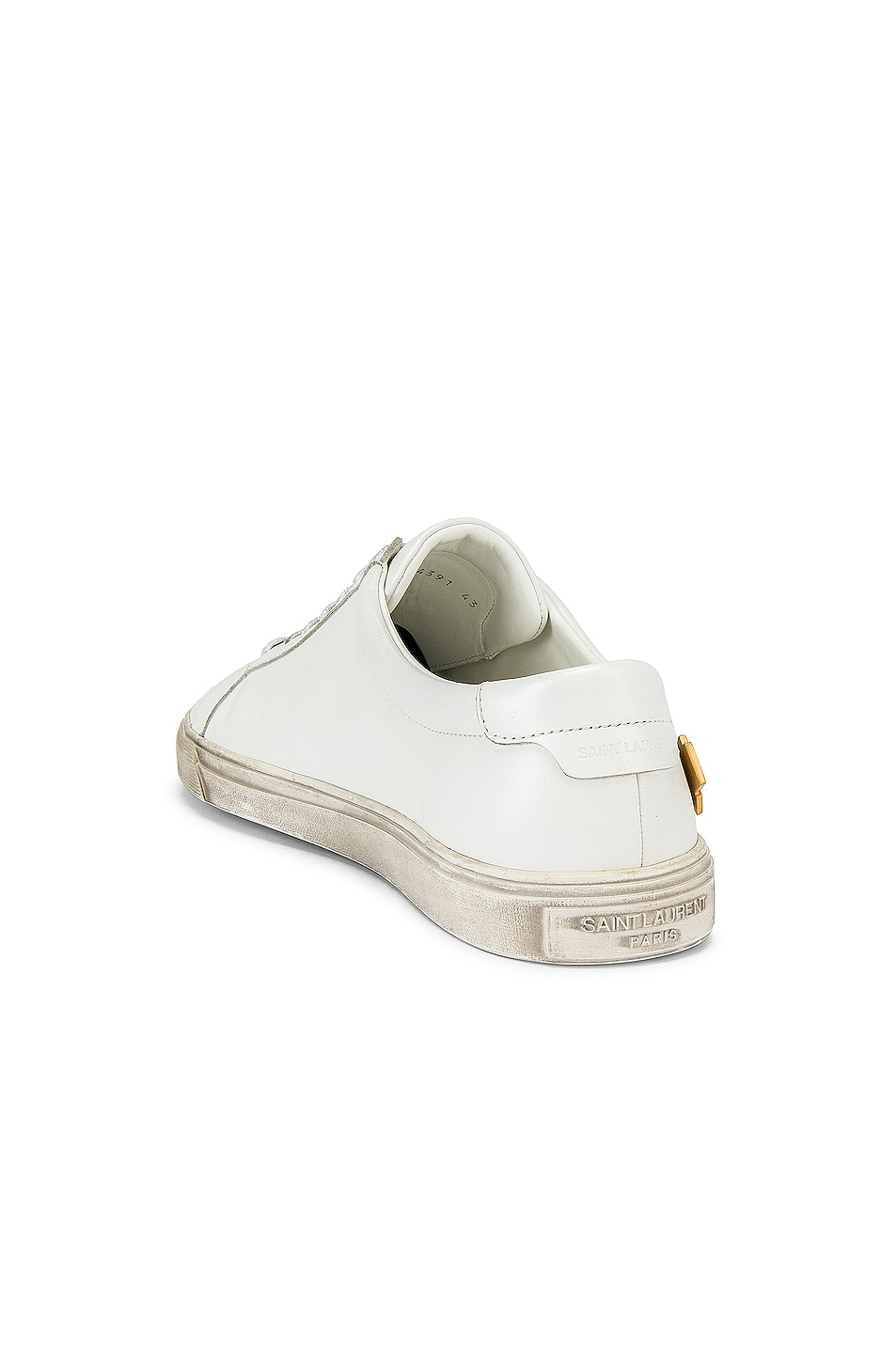 Image 3 of Saint Laurent Andy Low Tops in Optical White