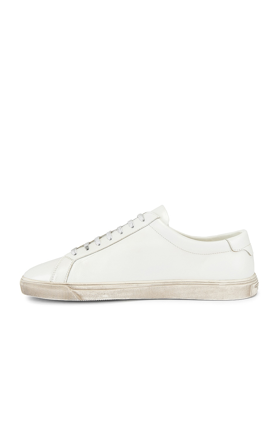 Image 4 of Saint Laurent Andy Low Tops in Optical White