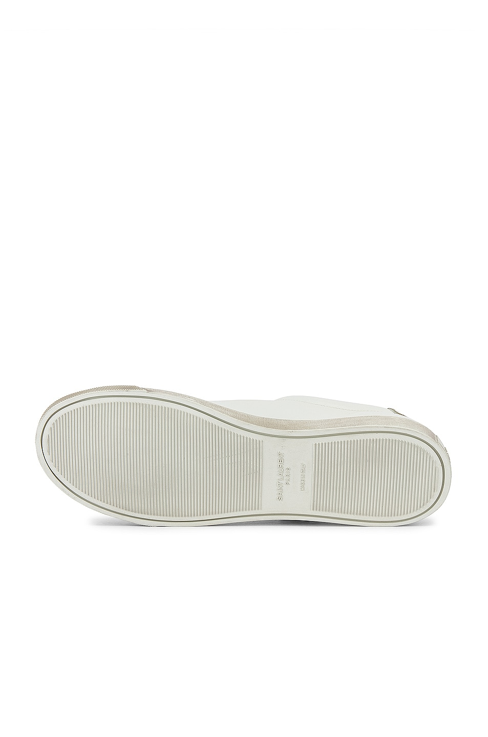 Image 7 of Saint Laurent Andy Low Tops in Optical White