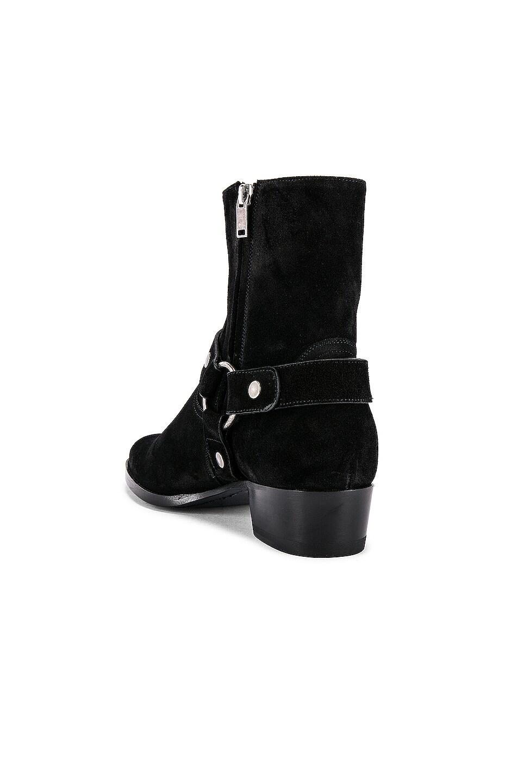 Image 3 of Saint Laurent Wyatt Suede Harness Boots in Black