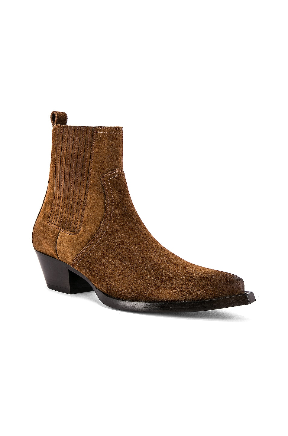 Image 1 of Saint Laurent Lukas Suede Boots in Land