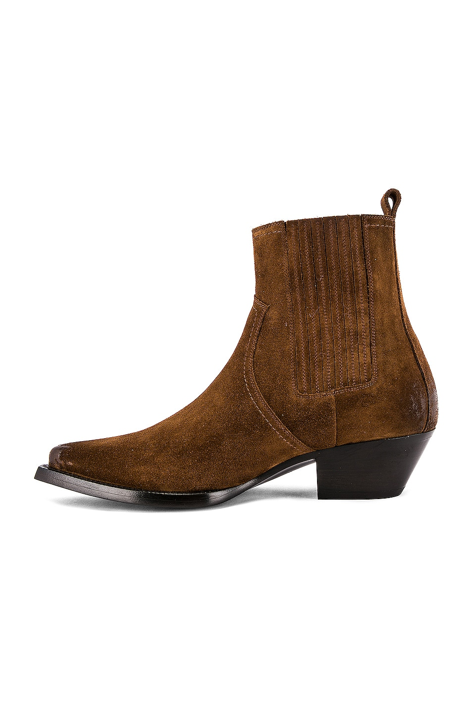 Image 5 of Saint Laurent Lukas Suede Boots in Land