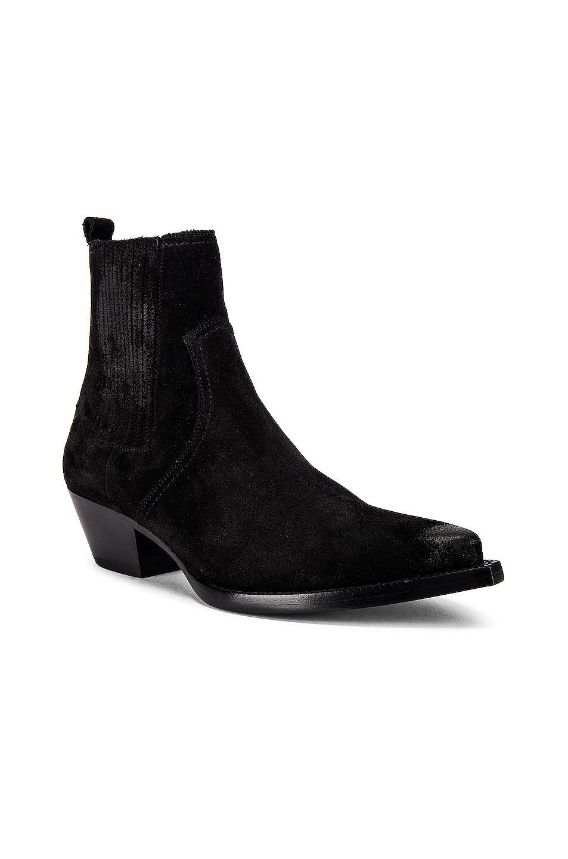 Image 2 of Saint Laurent Lukas Suede Boots in Black