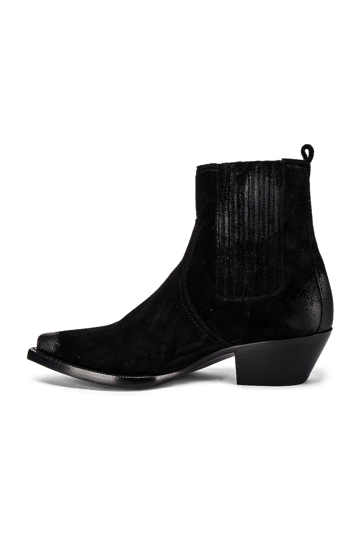 Image 5 of Saint Laurent Lukas Suede Boots in Black