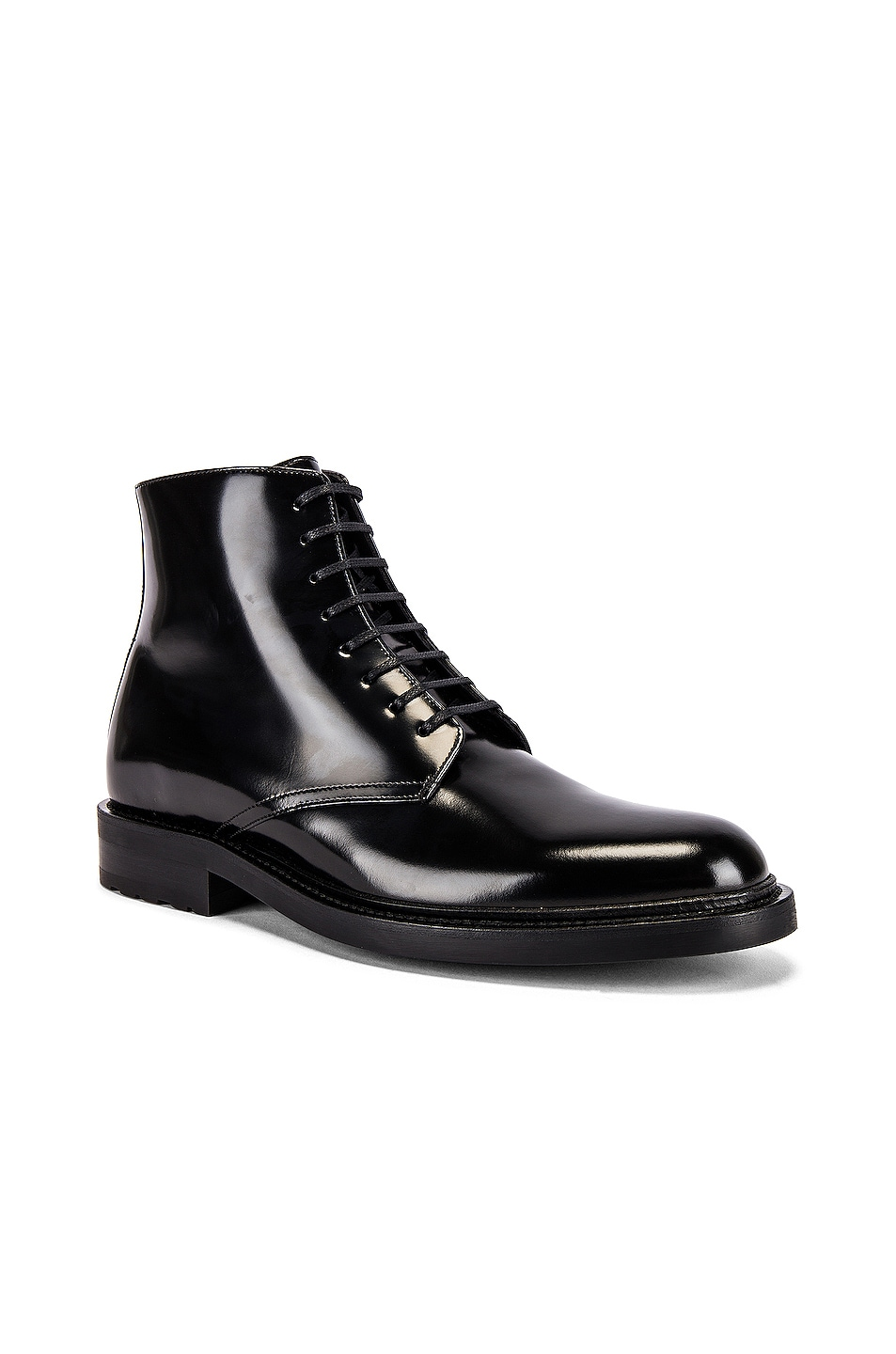 Image 1 of Saint Laurent Army Lace Up Boots in Black