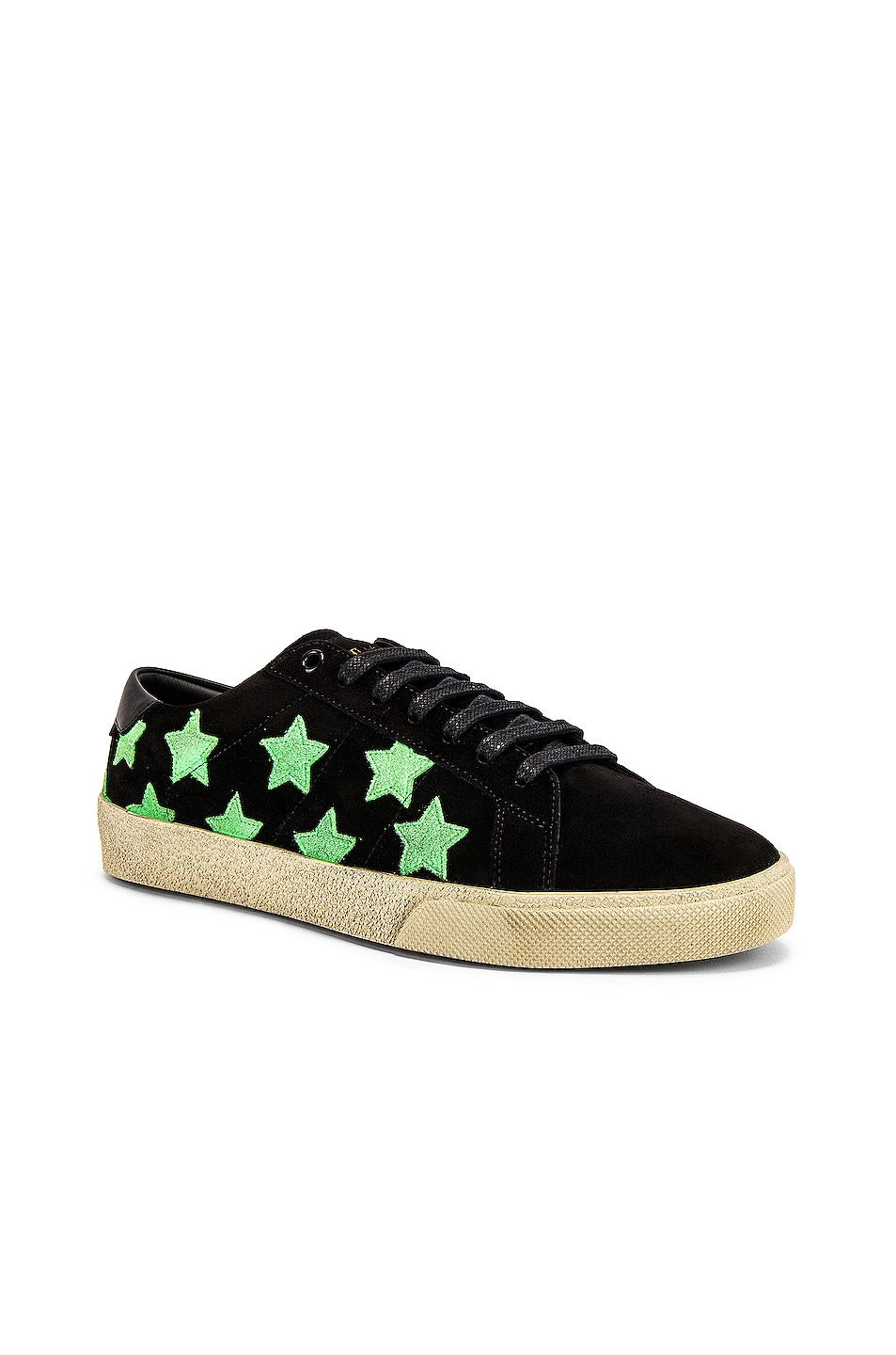 Image 1 of Saint Laurent Court Classic California Sneakers in Black & Green