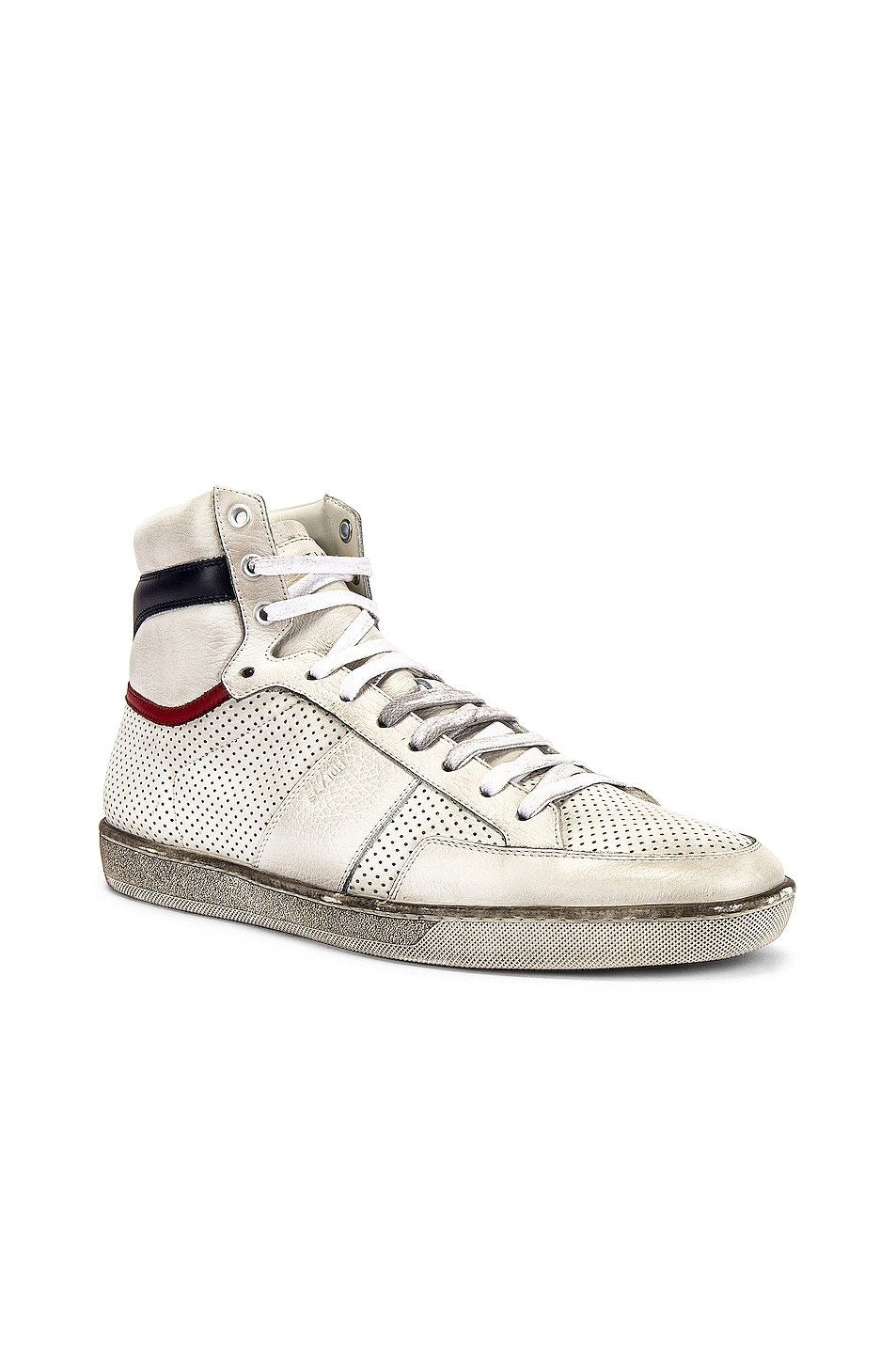 Image 1 of Saint Laurent Court Classic High Top Sneakers in White