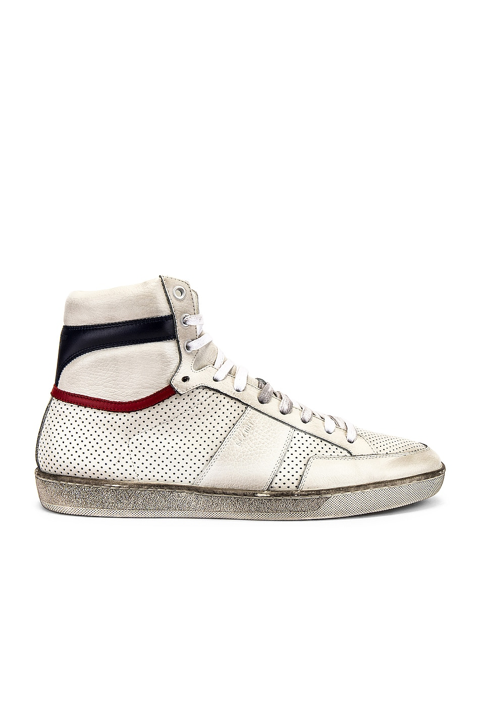 Image 2 of Saint Laurent Court Classic High Top Sneakers in White