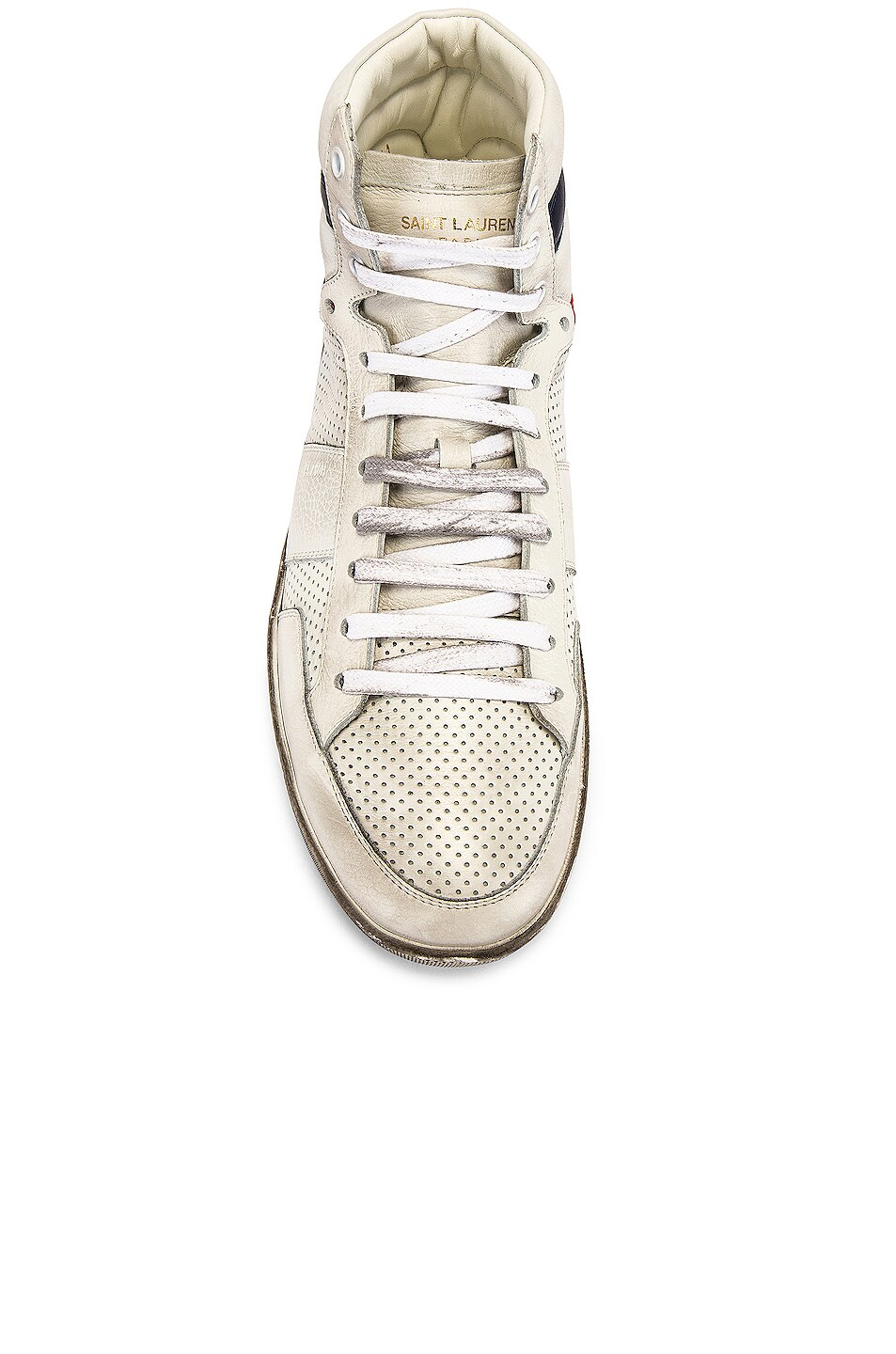 Image 4 of Saint Laurent Court Classic High Top Sneakers in White