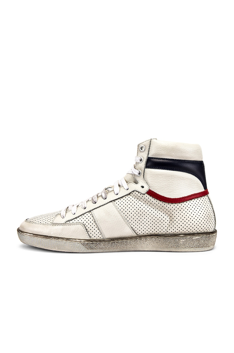 Image 5 of Saint Laurent Court Classic High Top Sneakers in White