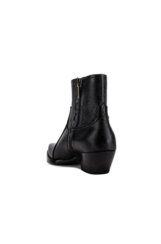 Image 3 of Saint Laurent Lukas Zipped Lizard Boot in Black