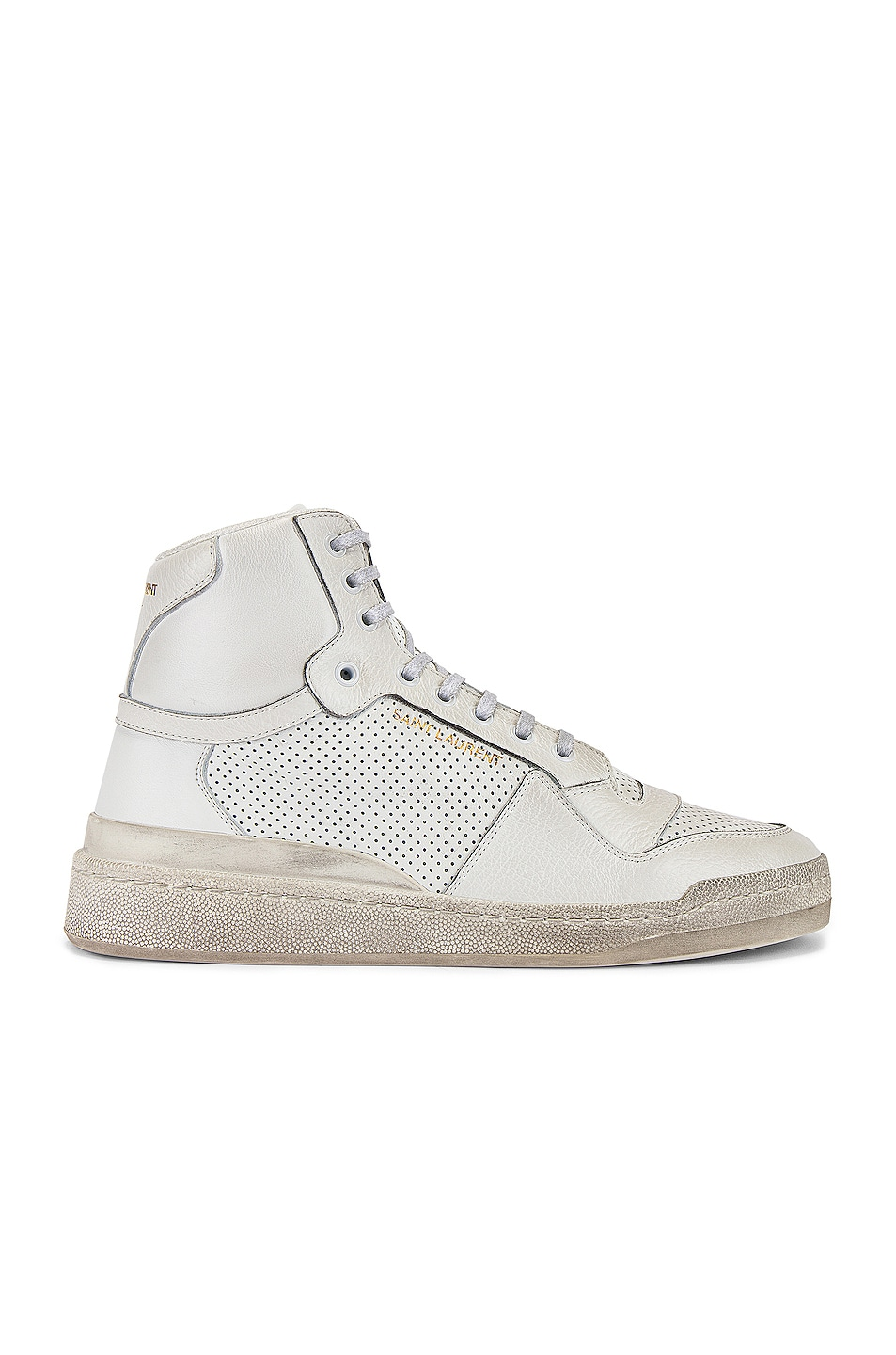 Image 1 of Saint Laurent SL24 Hi Top Sneaker in White