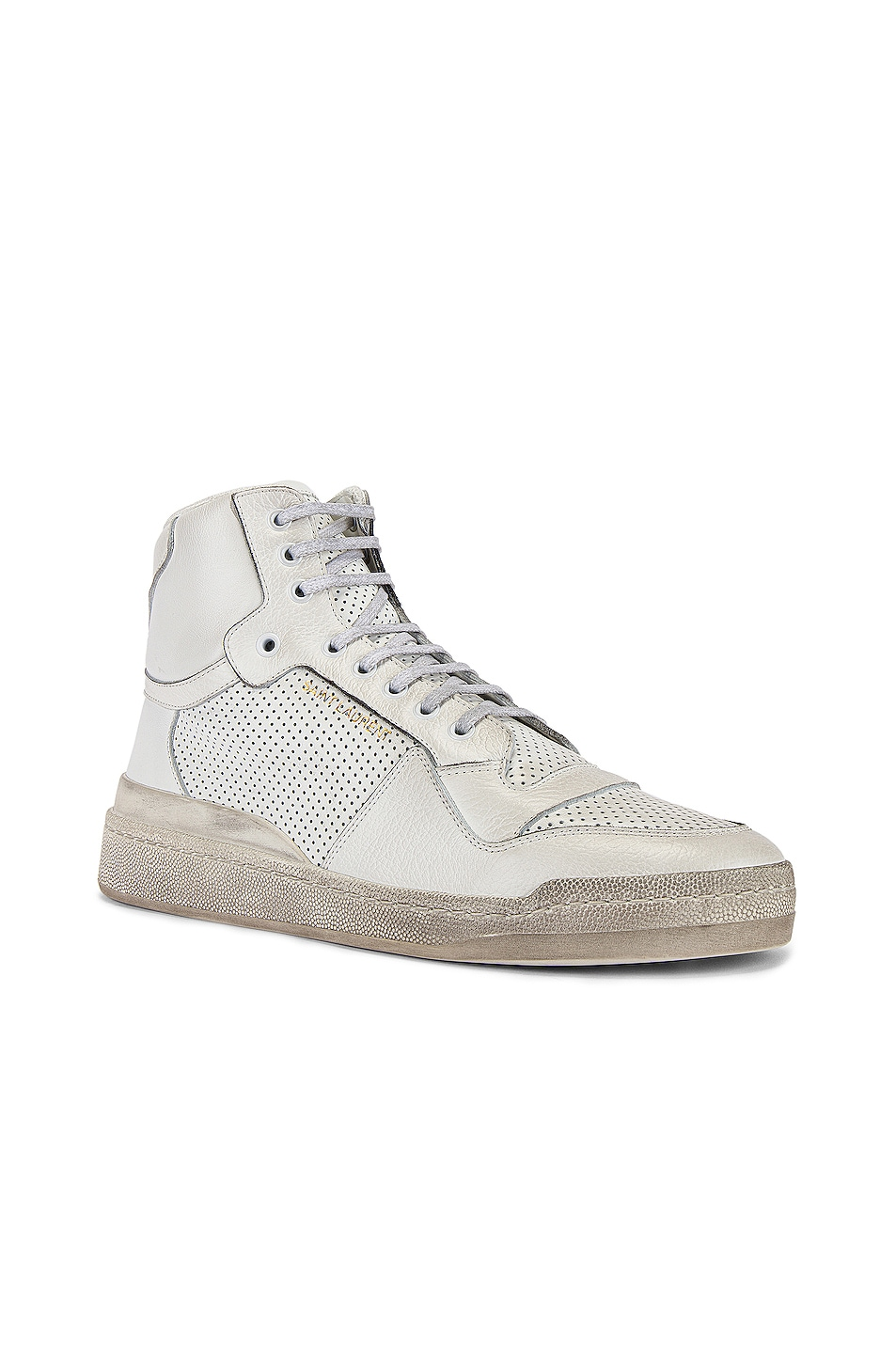 Image 2 of Saint Laurent SL24 Hi Top Sneaker in White