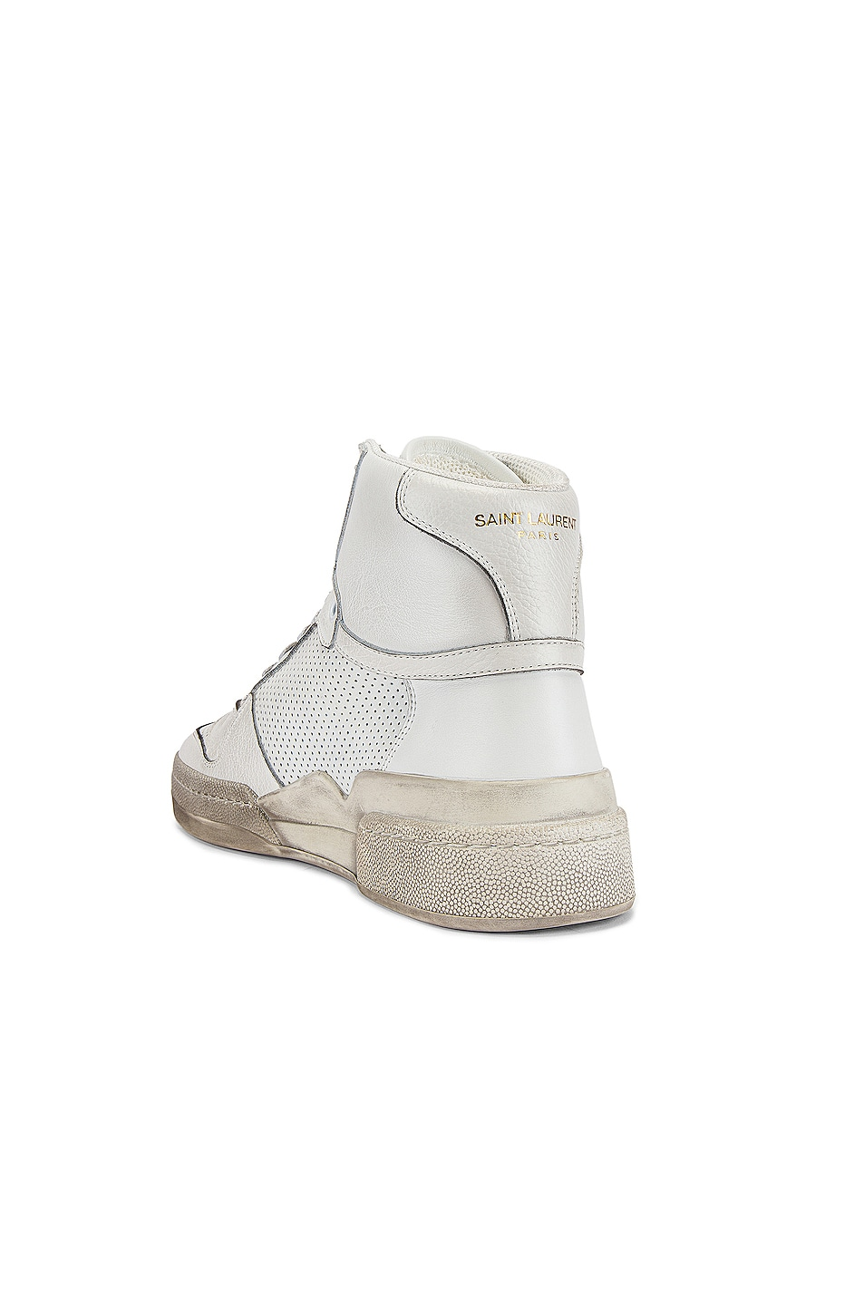 Image 3 of Saint Laurent SL24 Hi Top Sneaker in White