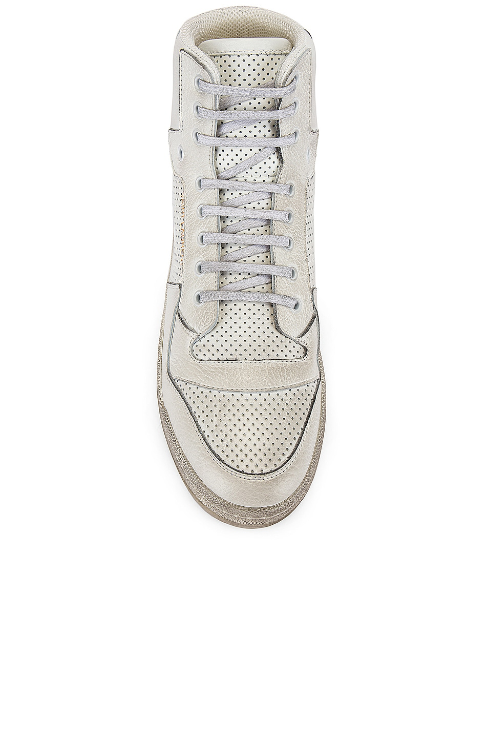 Image 4 of Saint Laurent SL24 Hi Top Sneaker in White