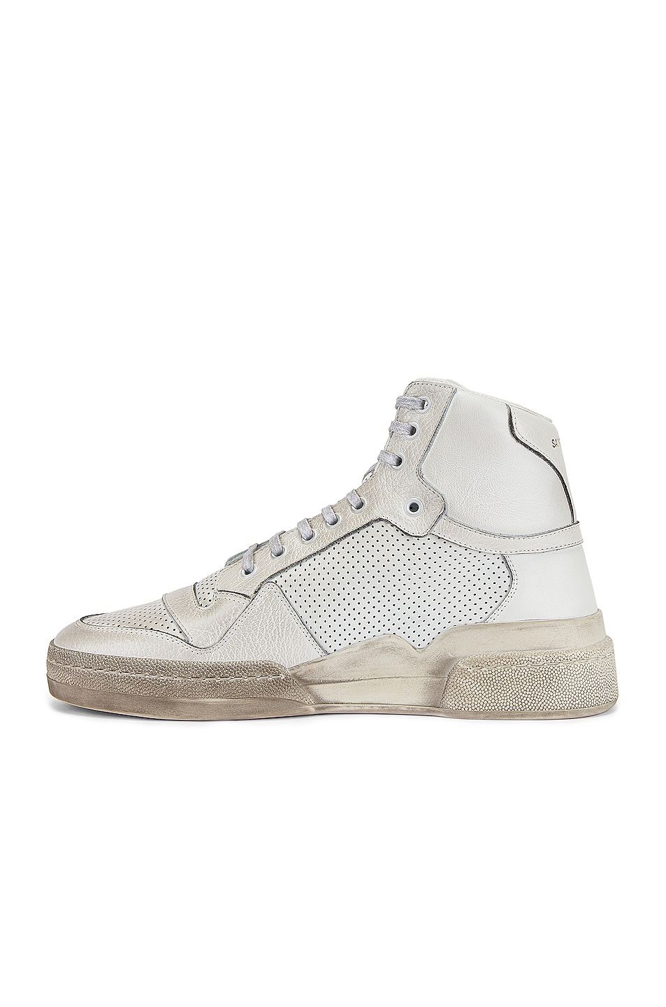 Image 5 of Saint Laurent SL24 Hi Top Sneaker in White