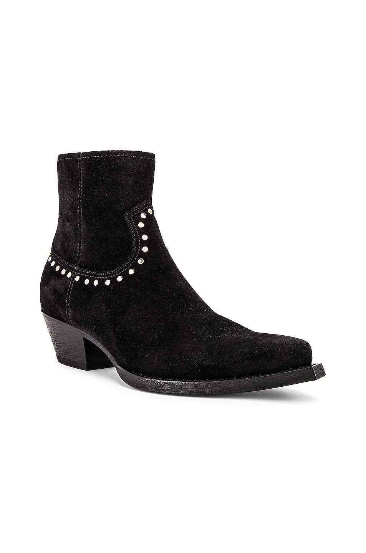 Image 1 of Saint Laurent Lukas 40 Studs Zip Boots in Black