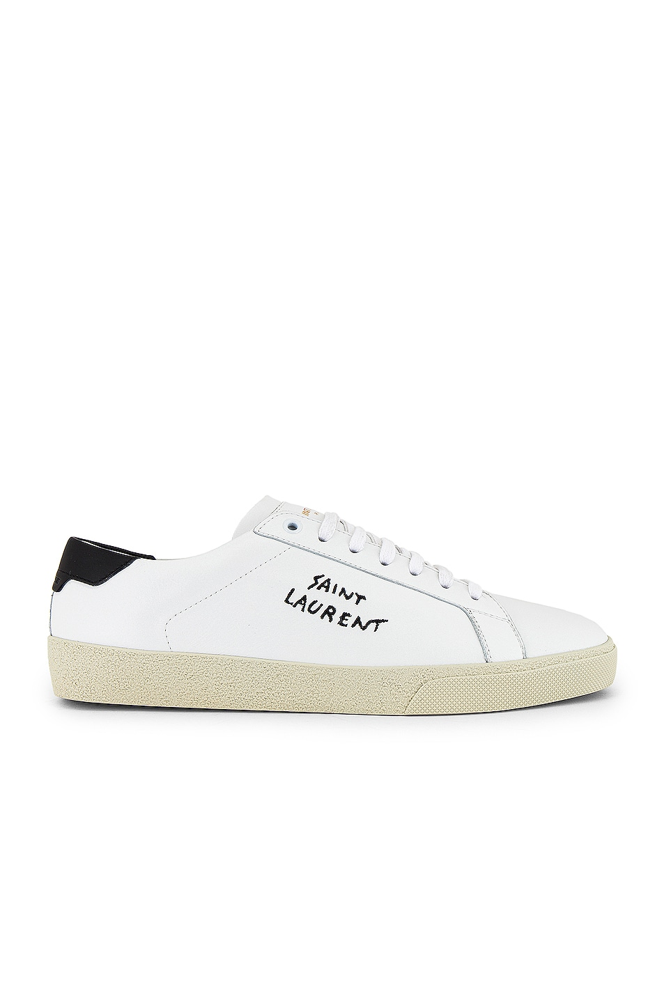 Image 1 of Saint Laurent SL06 Signa Low Top Sneaker in Optic White