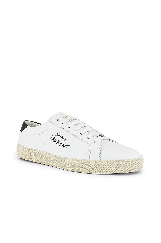 Image 2 of Saint Laurent SL06 Signa Low Top Sneaker in Optic White