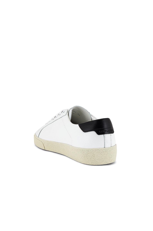Image 3 of Saint Laurent SL06 Signa Low Top Sneaker in Optic White