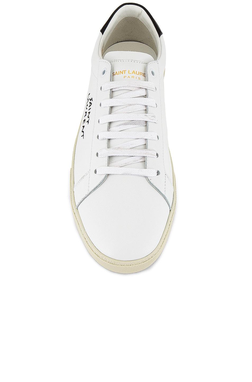 Image 4 of Saint Laurent SL06 Signa Low Top Sneaker in Optic White