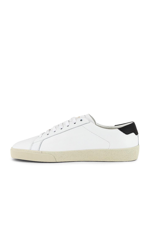 Image 5 of Saint Laurent SL06 Signa Low Top Sneaker in Optic White