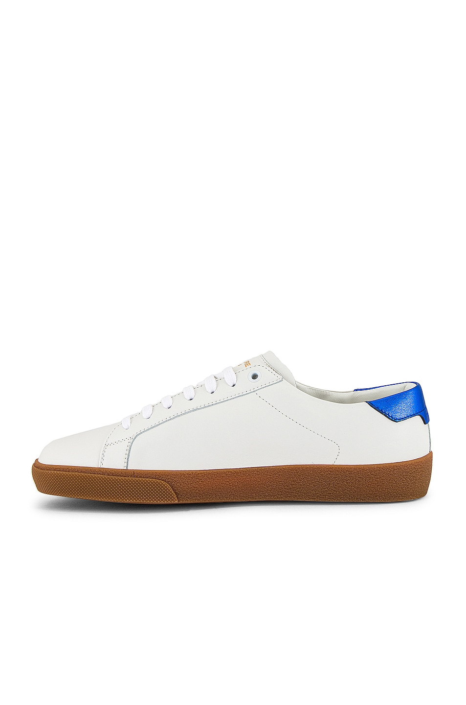 Image 5 of Saint Laurent SL06 Signa Low Top Sneaker in Black & Blue